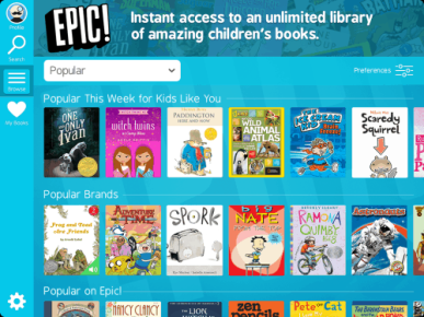 epic subscription ebook kid children