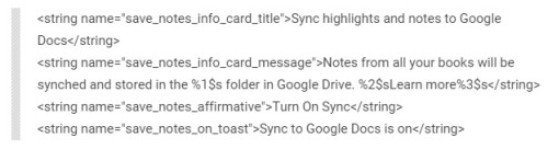 google play books notes drive