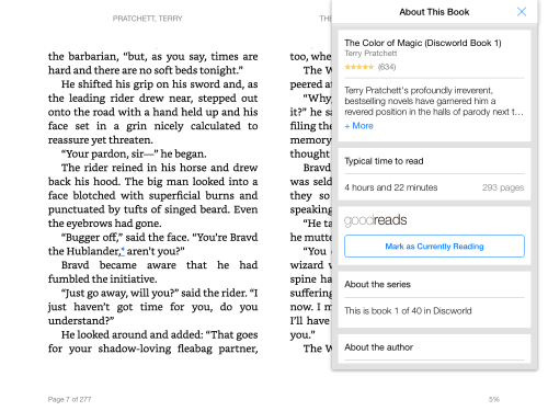 "Kindle for iPad, iPhone v4.10 Adds ""About this Book"" Feature e-Reading Software Kindle"