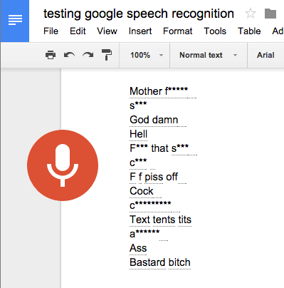 Google Docs' New Voice Typing Feature Forces You to Speak No Evil e-Reading Software Google Language Office