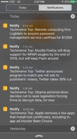 facebook notify