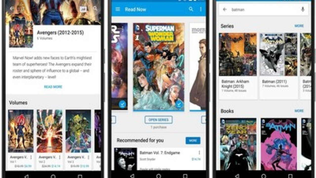 Google Play Books Updated With Basic Comic Book Support