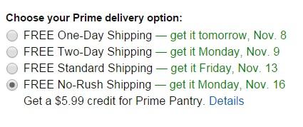 Amazon Bumps No-Rush Shipping Credit to $5.99 Amazon