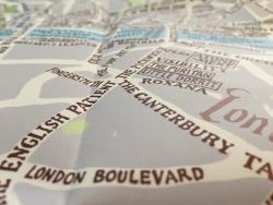 The Map of Fictional London Will Keep You From Getting Lost in the Story Books as Art