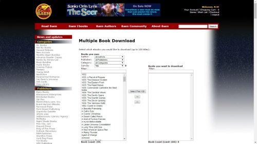 baen multiple book download