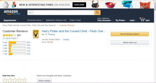 harry potter reviews Amazon