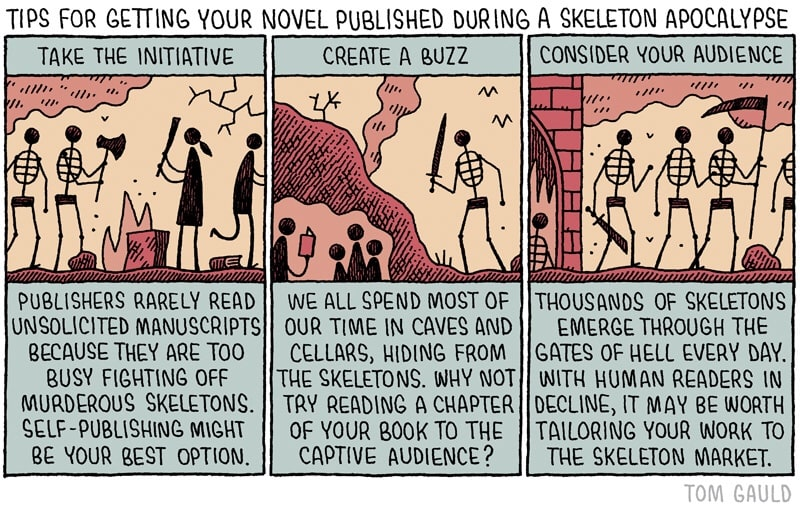 Infographic: How to Publish Your Novel During a Skeleton Apocalypse humor Infographic