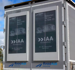 Giant E-ink Screens Turn Trucks Into Accident-Causing Distractions E-ink Tech