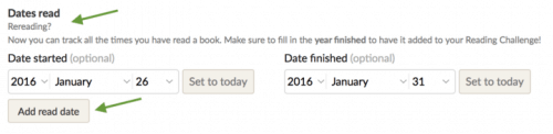 Goodreads Users Can Now Track Books They're Re-Reading Amazon Social reading