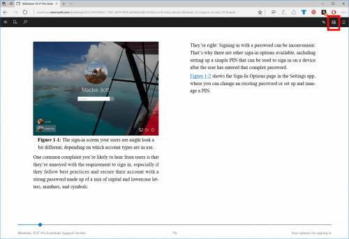 Edge Web Browser Reads eBooks Aloud in Latest Windows 10 Build e-Reading Software Web Browser