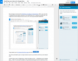 WordPress for Google Docs Lets You Edit Docs and Publish Them in WordPress Web Publishing