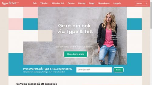 Bonnier to Launch Type & Tell Services Provider in the UK Self-Pub