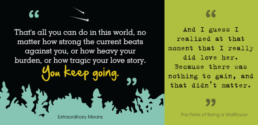 Infographic Twenty Inspirational Quotes From Ya Books -3980