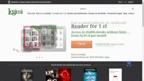 Legimi Bundles eReader With its eBook Subscription Service e-Reading Hardware Streaming eBooks