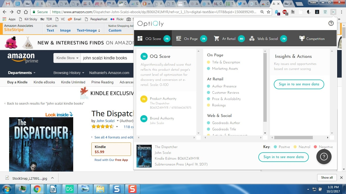 OptiQly's Chrome Extension Will Rate an Author's Book
