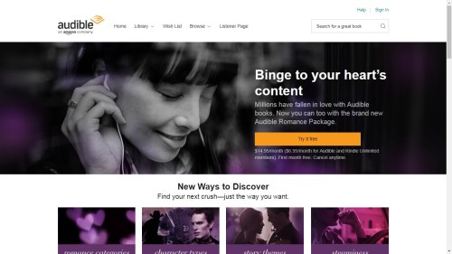 """Audible Launches an """"All-You-Can-Listen"""" Romance Service Amazon Audiobook"""