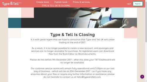 Bonnier to Close the UK Branch of Its Type & Tell Services Provider Self-Pub