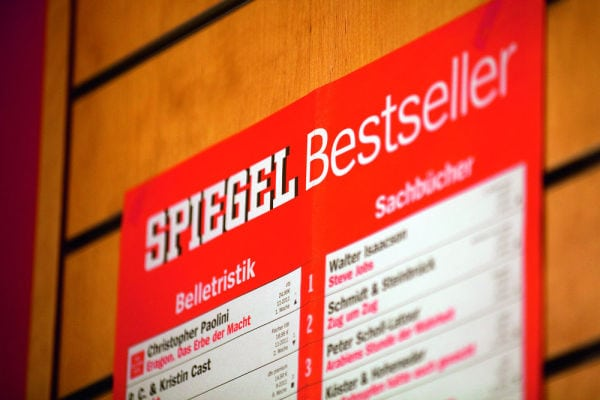 "Marketing Your Book as a ""Spiegel Best-Seller"" in Germany Could Soon Cost You Money Best-Seller List"