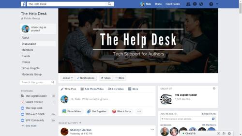 Come Join my Facebook Group Social Media