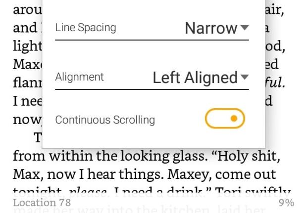 Kindle Android App Now Supports Vertical Scrolling e-Reading Software Kindle (platform)