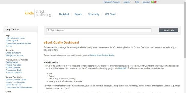 Amazon Launches New eBook Quality Dashboard in KDP Kindle (platform)