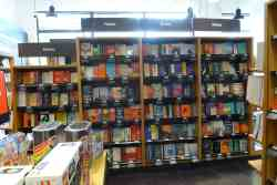 The Renovated Amazon Books Bookstore in Bethesda, MD Now Has E-ink Shelf Labels and Books Shelved Spine Out Amazon Bookstore