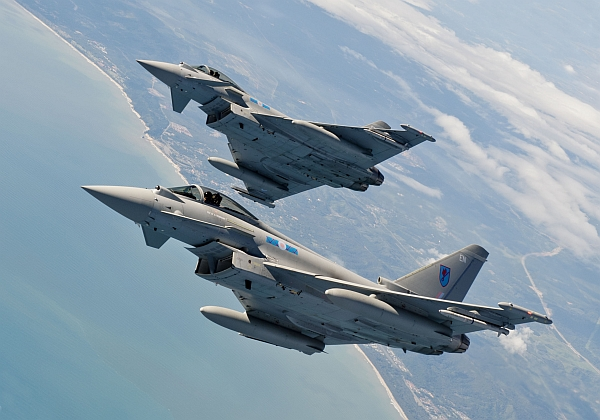 RAF 6 Squadron Eurofighter Typhoons on Exercise Bersama Lima 11 in Malaysia