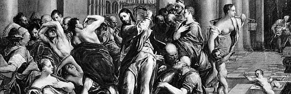 Jesus reinigt den Tempel von den Lobbyisten