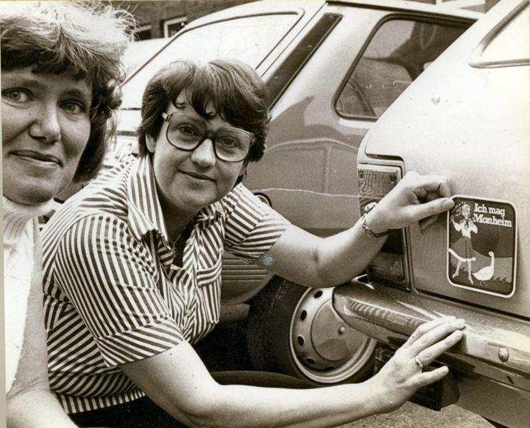 Monheim: Bürgermeisterin Ingeborg Friebe 1977 (Foto: Max Th. Hahn / Stadtarchiv)