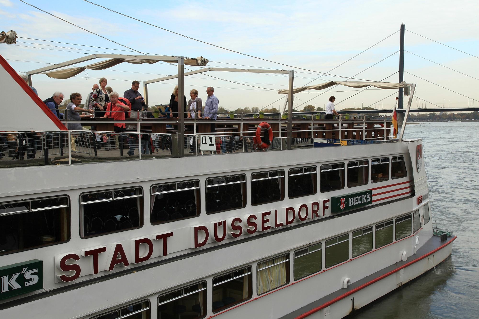 MS Stadt Düsseldorf - das Flaggschiff der Weißen Flotte