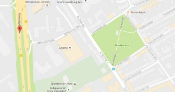Google-Map: Kennedydamm / Roßstraße