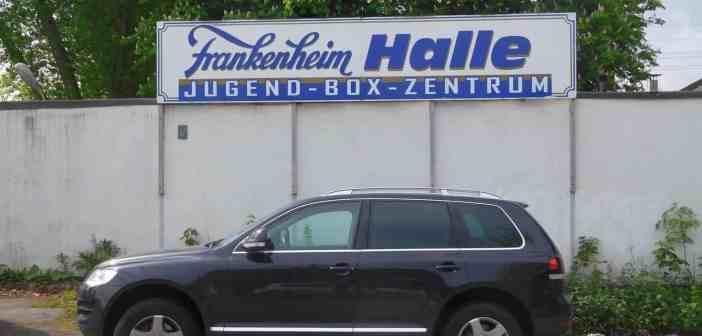 Einer der vielen Sponsoring-Dinge der Brauerei: Die Frankenheim-Halle des Jugend-Box-Zentrums am Flinger Broich