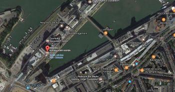 Google-Map: Melia Innside im Medienhafen