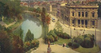 Blick über den Platz zum Kö-Bogen (vor dem 1. Weltkrieg)