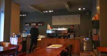 Das wunderbare Café der Rösterei Vier auf der Wallstraße
