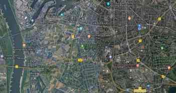 Google-Map: In dieser Gegend Düsseldorfs spielt sich die Uni-Runde ab
