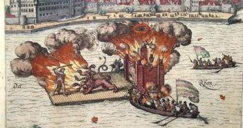 Feuerwerk zur verrückten Hochzeit von Johann Wilhelm I. mit Jacobe von Baden