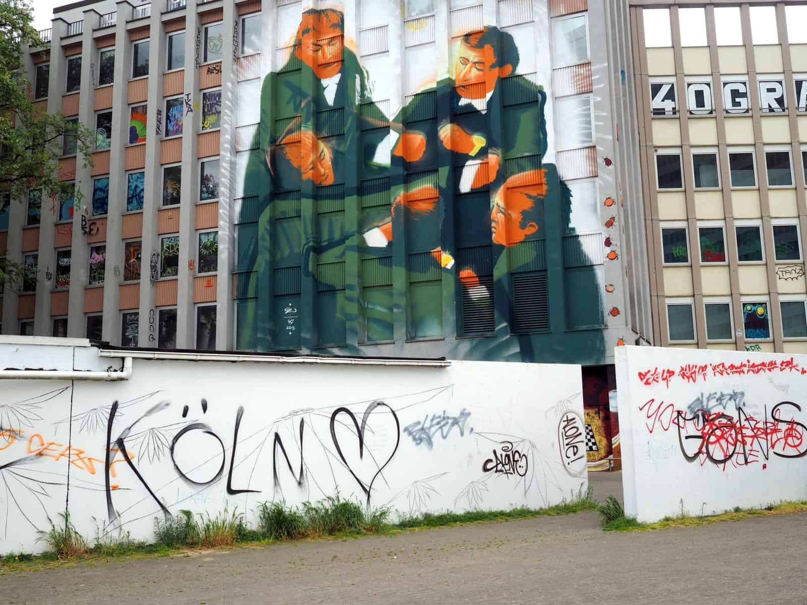 BdW28: Graffito am Gründgens-Platz