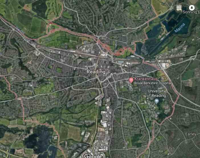 Google-Map: Reading, UK