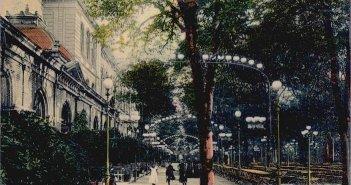 Der Garten an der Alten Tonhalle auf einer zeitgenössischen Postkarte