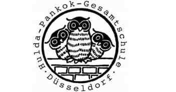 Das Drei-Eulen-Logo - heute verwendet von der Hulda-Pankok-Gesamtschule
