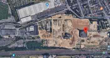 Google-Map: Das Gelände der Gerresheimer Glashütte heute