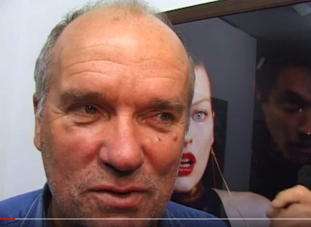 Peter Lindbergh 1991 bei HansMayer (Screenshot: Youtube)