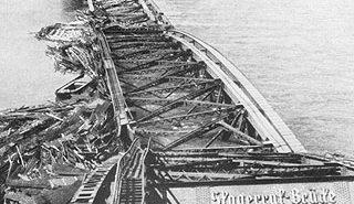 Die zerstörte Oberkasseler Brücke anno 1947