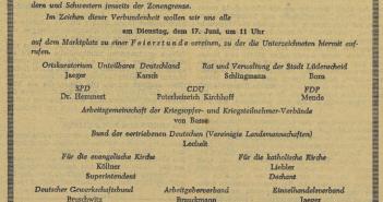 Gründungsurkunde des Kuratoriums Unteilbares Deutschland