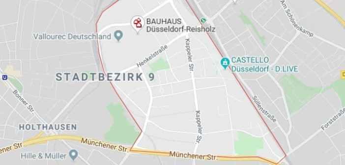 Google-Map: das arme, kleine Reisholz