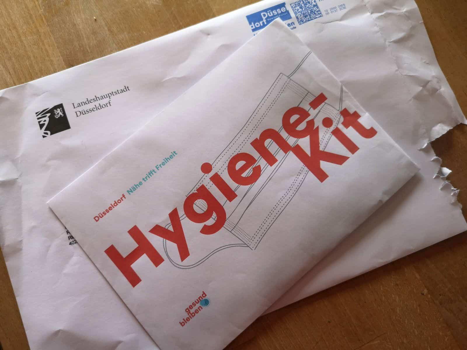 Das ominöse Hygiene-Kit der Stadt Düsseldorf