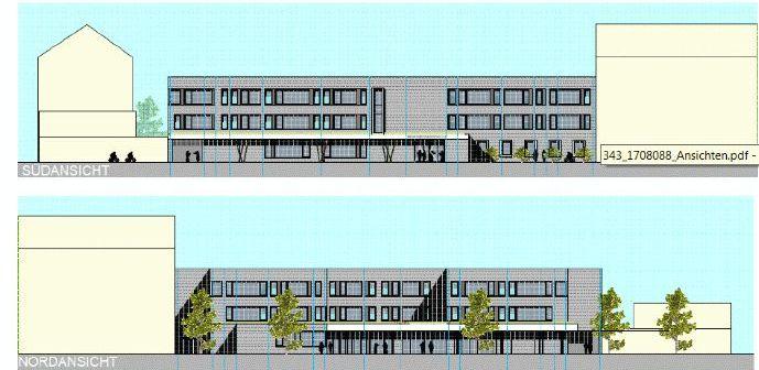 In Wirklichkeit viel schöner: Architektenzeichnung der neuen Regenbogenschule (Quelle: Hellmeister Architekten/ IPM Düsseldorf GmbH)