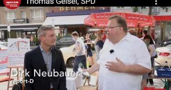 Thomas Geisel bei einem Gefälligkeitsinterview (Screenshot)