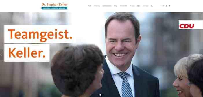 Dr. Stephan Keller - eine durch und durch konventionelle Website (Screenshot)